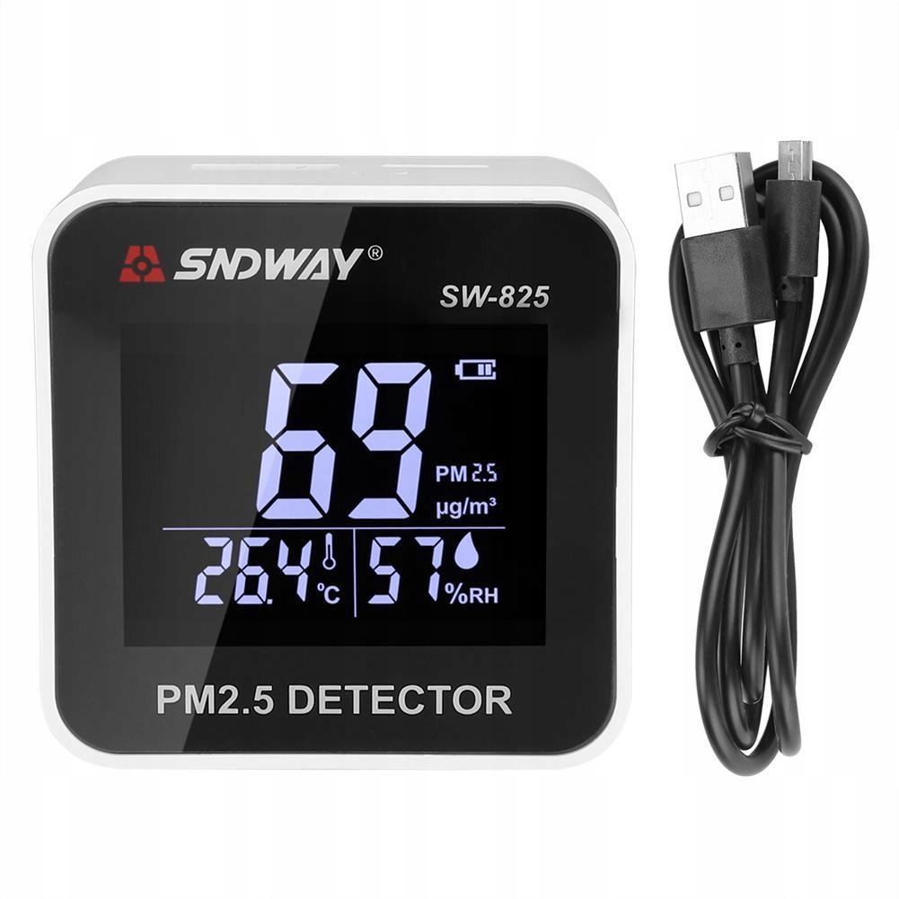 Monitor jakości powietrza PM2.5 pomiar smogu