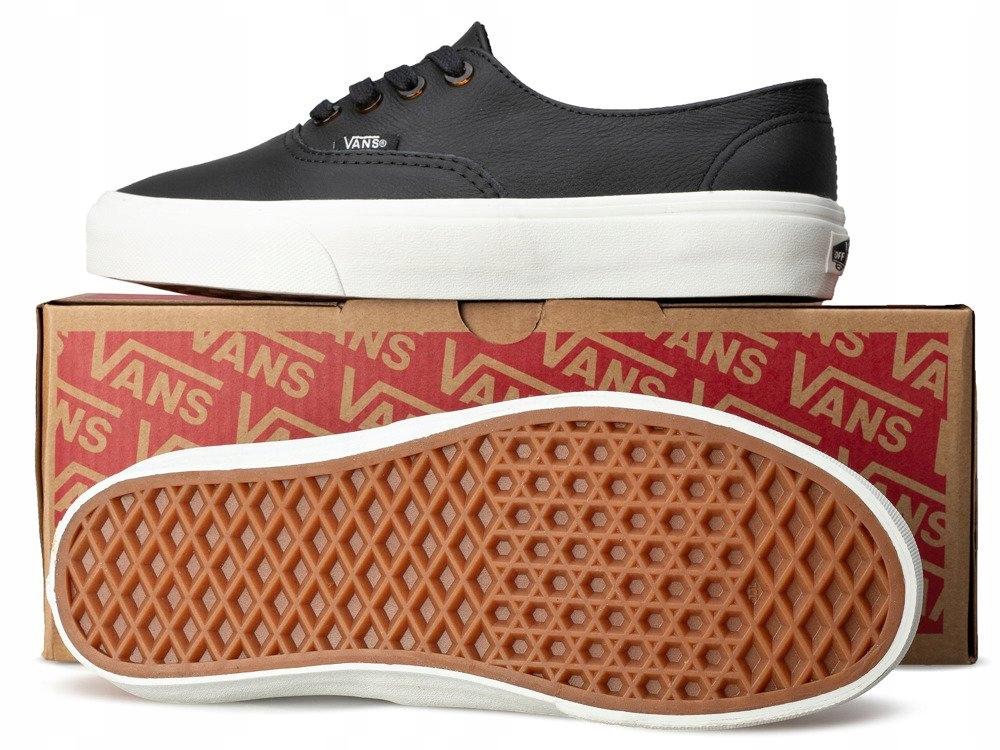 Czarne VANS trampki niskie buty SKÓRA tenisówki