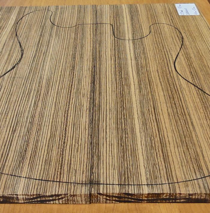 Drewno ZEBRANO na top, gitarę, na bas, gr. 13,7 mm