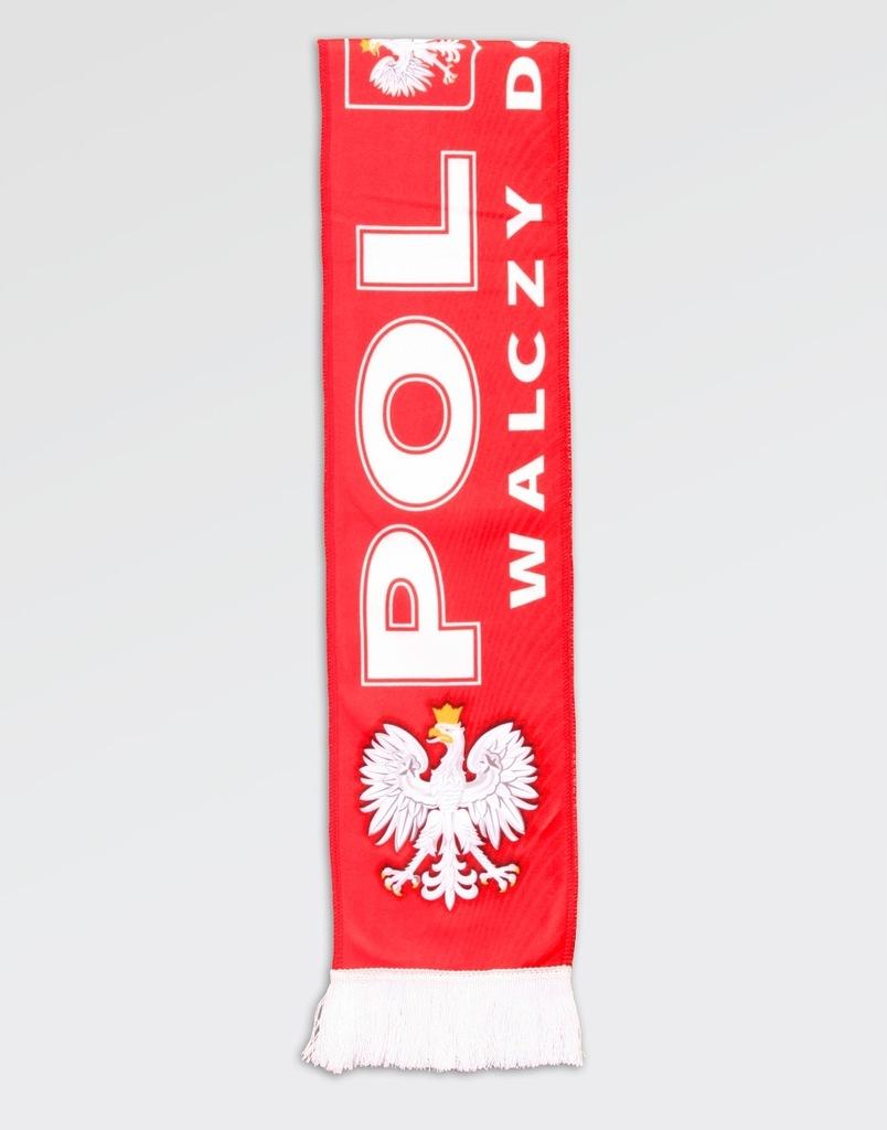Drukowany szalik kibica Polska walczy do końca