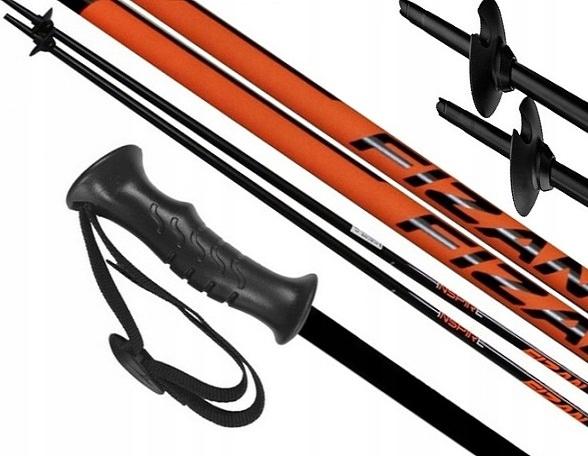 Kije kijki narciarskie FIZAN INSPIRE 125 cm orange