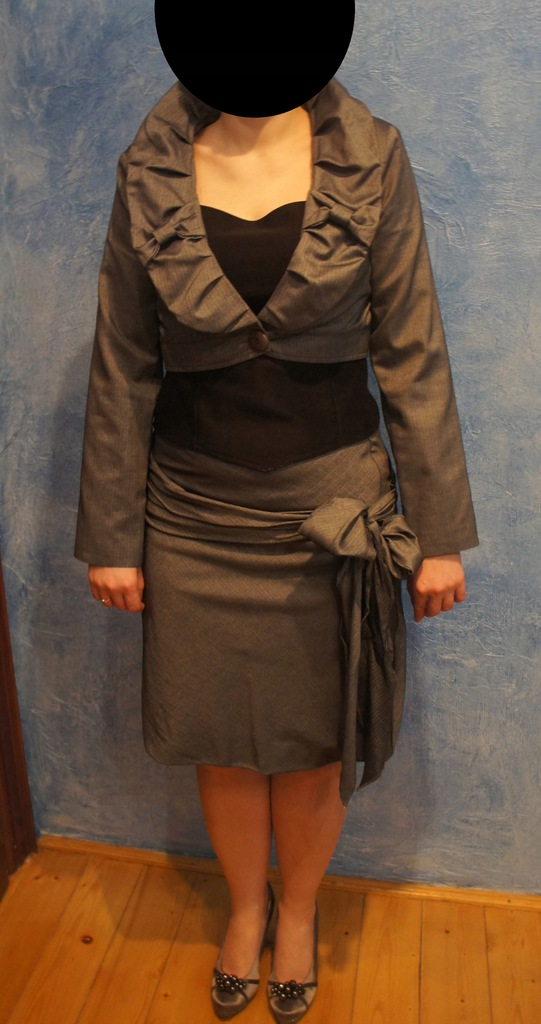 GARSONKA bolerk + spódnica COCOMORE r.40