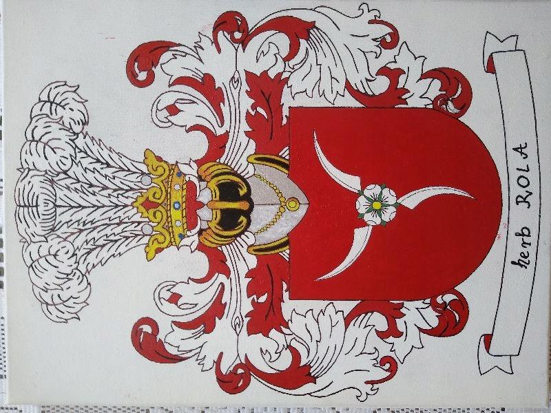HERB SZLACHECKI ROLA, 21 x 30 cm (wzór)