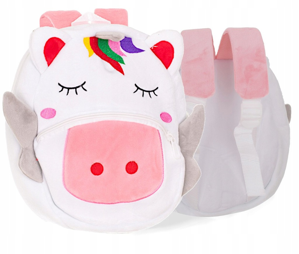 Plecak przedszkolaka pluszowy jednorożec 24cm