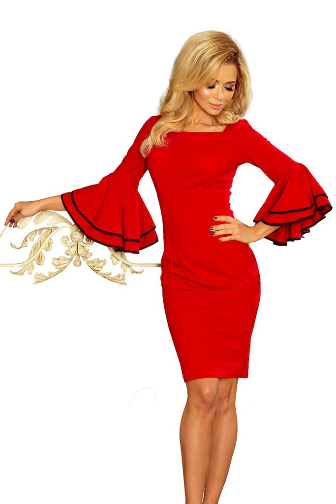 Sukienka Carmen czerwona hiszpanka falbanki 44 XXL