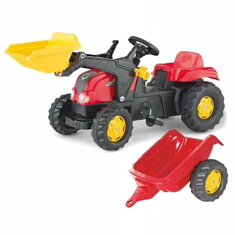 Rolly Toys rollyKid Traktor na pedały z łyżką i pr