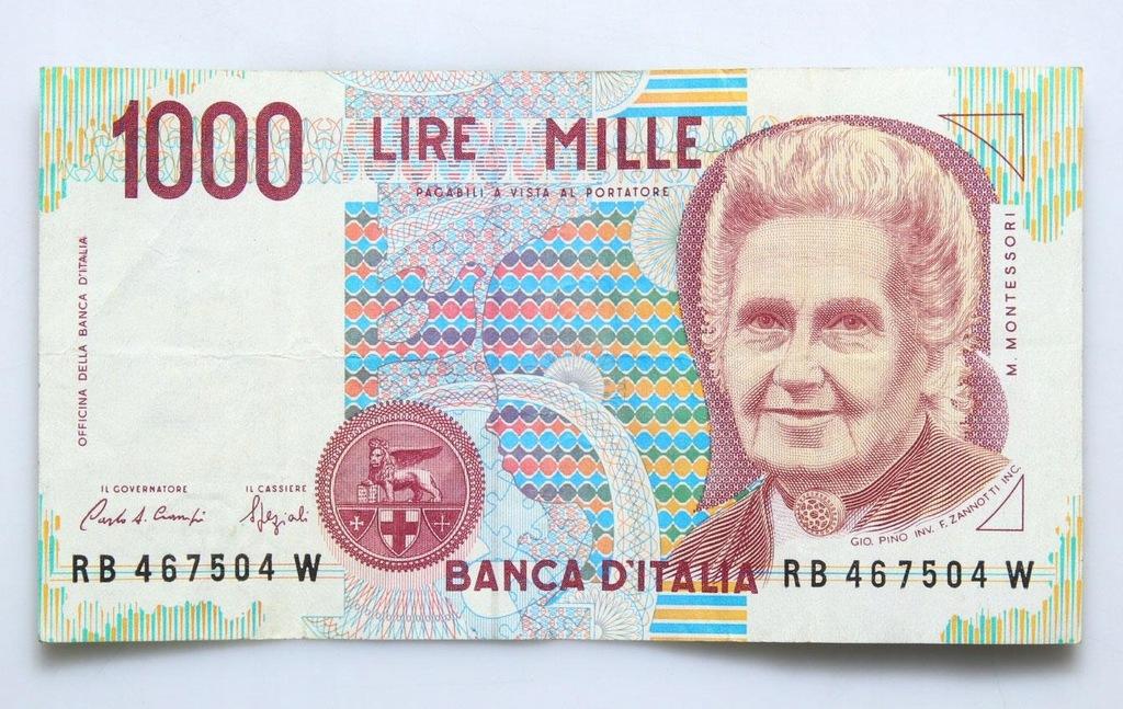 BANKNOT - Włochy - 1000 Lir 1990