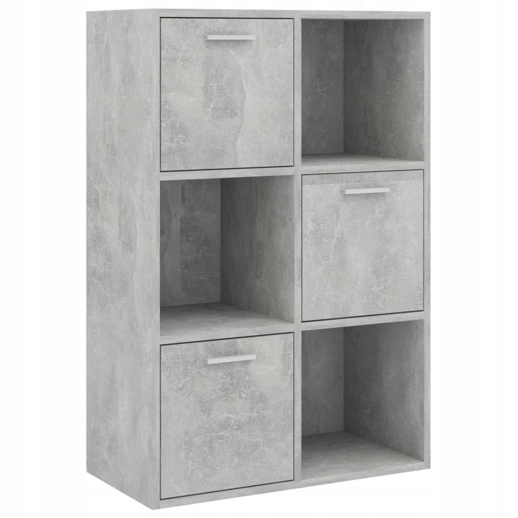 Szafka, betonowa szarość, 60x29,5x90 cm, płyta wió