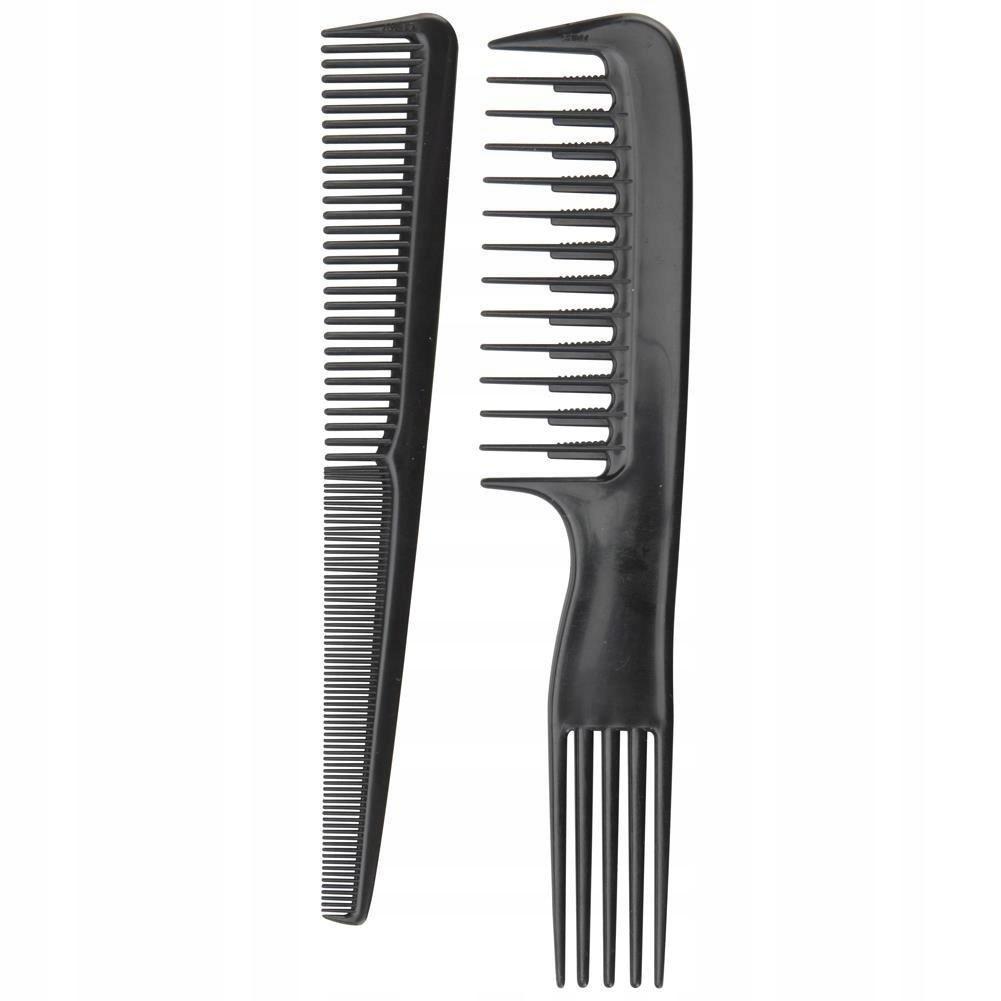 Zestaw GRZEBIENI grzebień do włosów czesania 2el.