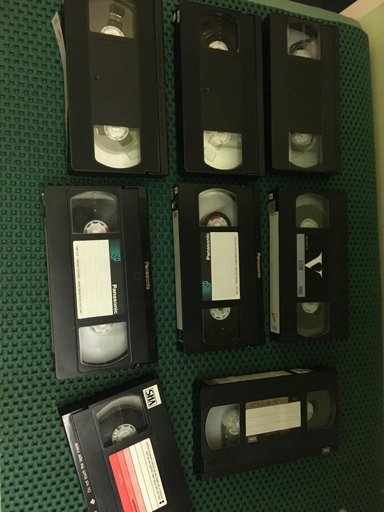 Kasety VHS 8szt.do nagrywania różne Sony Panasonic