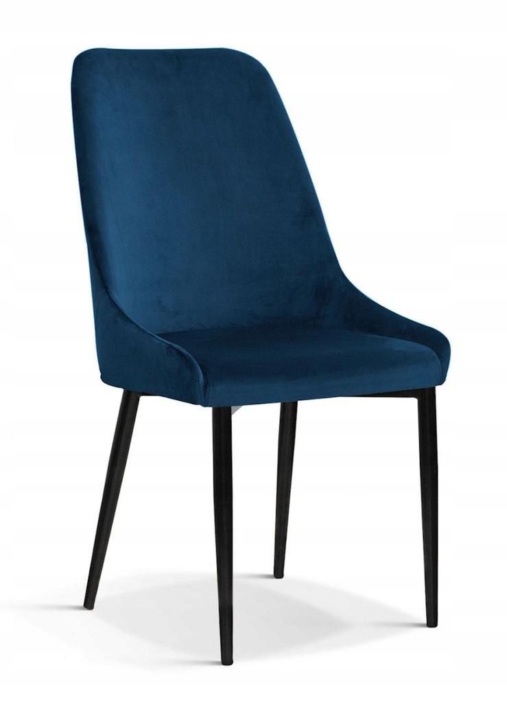 Krzesło OLIVIER M granatowy/ noga czarna/ BL86