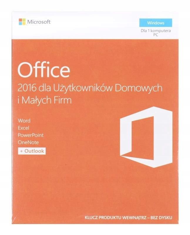 Microsoft Office 2016 Home and Business (1 stan.;