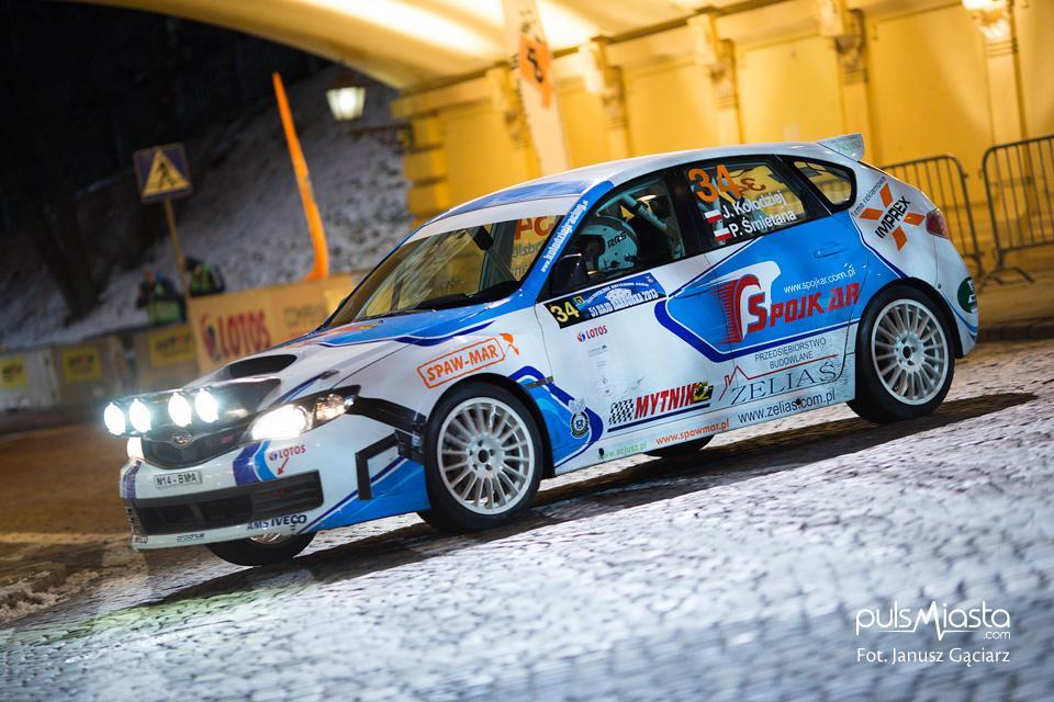 Przejażdżka rajdowym Subaru z Januszem Kołodziejem