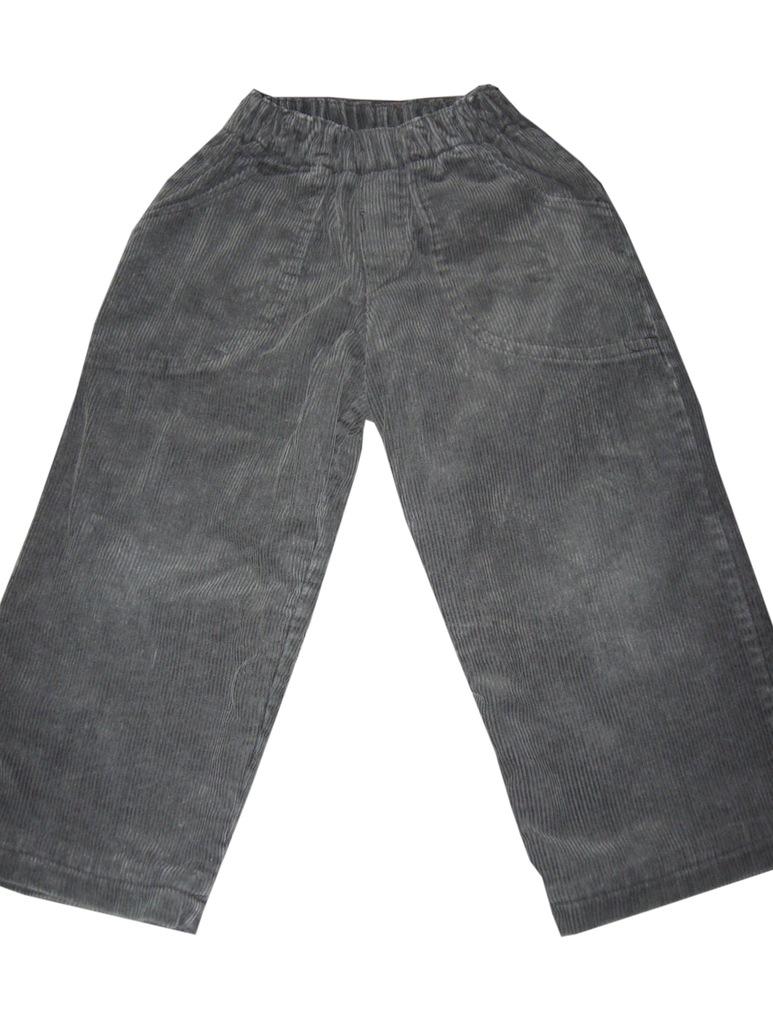 Spodnie sztruksowe ocieplane polarem r.86 *3368