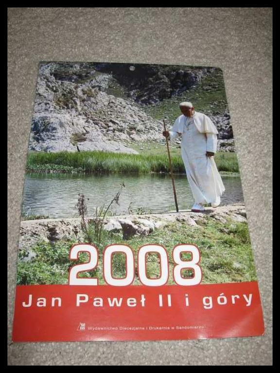 Kalendarz Jan Paweł II papież Kościół Wojtyła