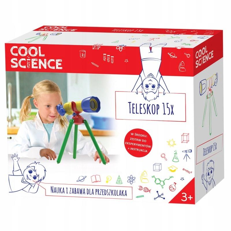 TELESKOP 15X COOL SCIENCE TM TOYS 3+