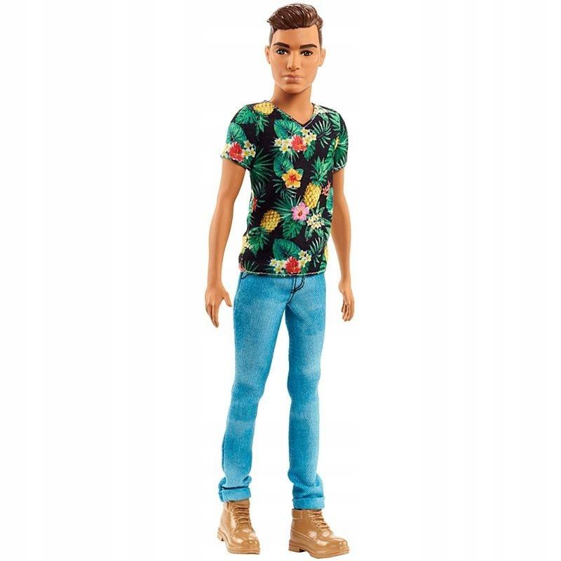 Barbie Fashionistas. DWK44 Ken w hawajskiej kos...