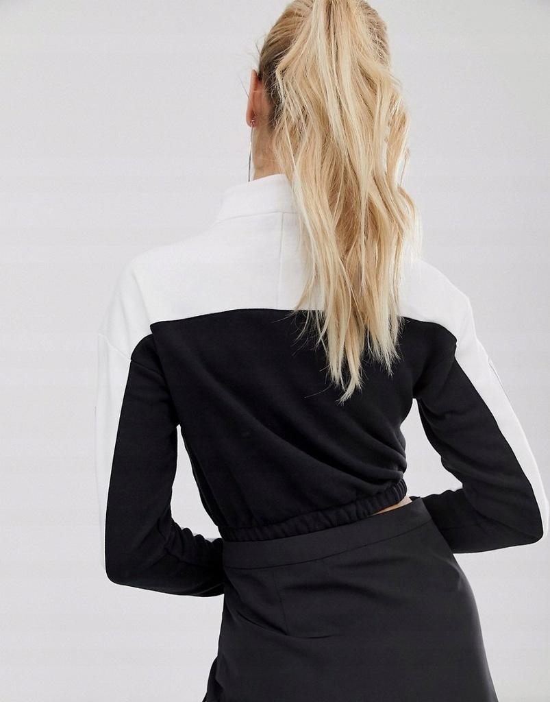 ADIDAS ORIGINALS bluza KRÓTKA biało czarna 42