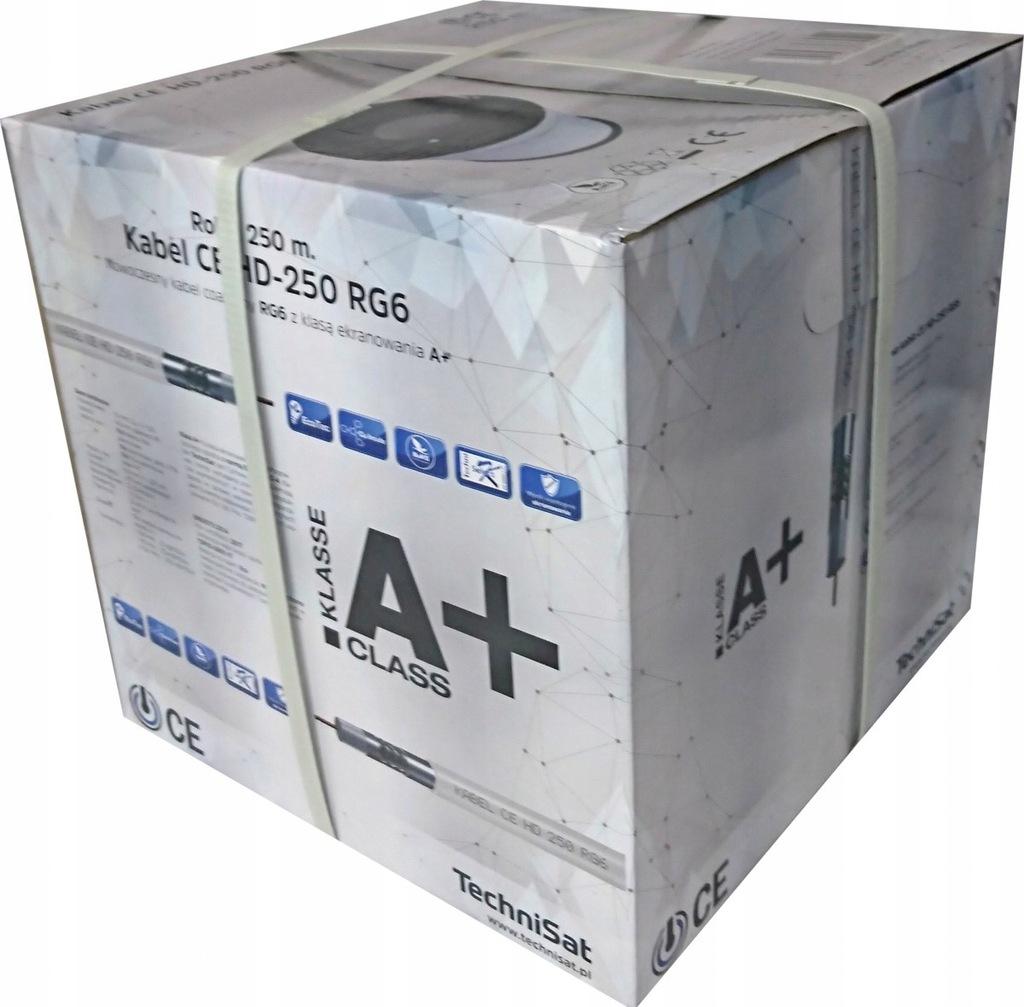 Kabel koncentryczny CE HD-250 RG6 250m Technisat