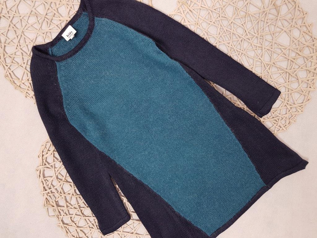 J.Lewis Dzianinowa Dwu Kolorowa Sukienka Alpaka