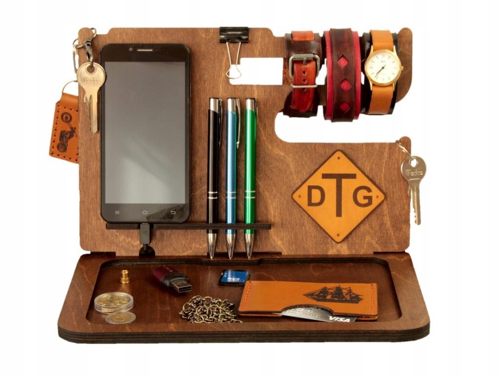 Personalizowany organizer biurkowy drewniany