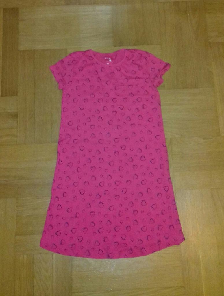 140 truskawkowa sukienka letnia krótki rękaw