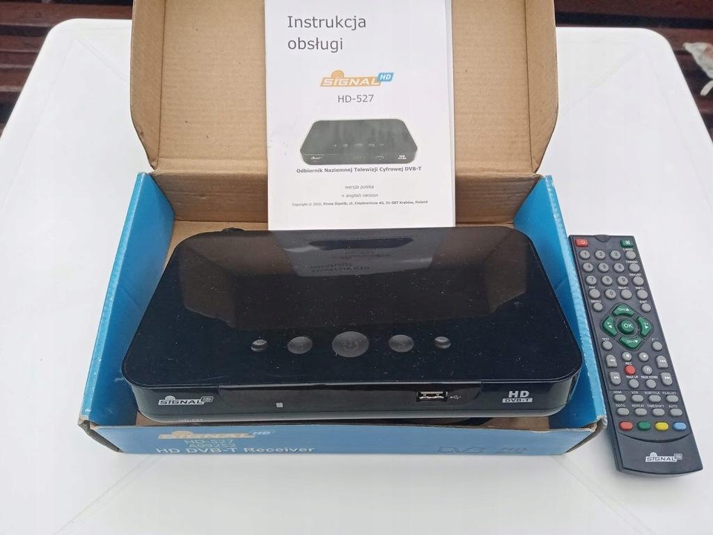 Tuner DVB-T Signal HD-527 złącza HDMI/SCART