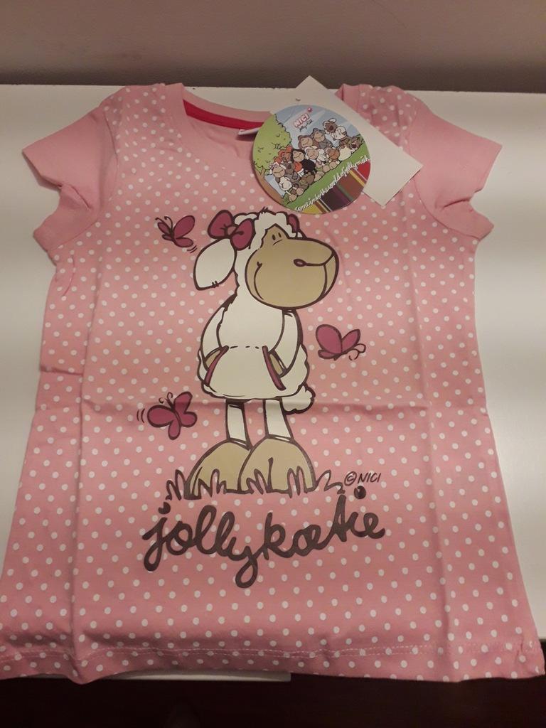 NICI owieczka koszulka t-shirt 116 dziewczęca