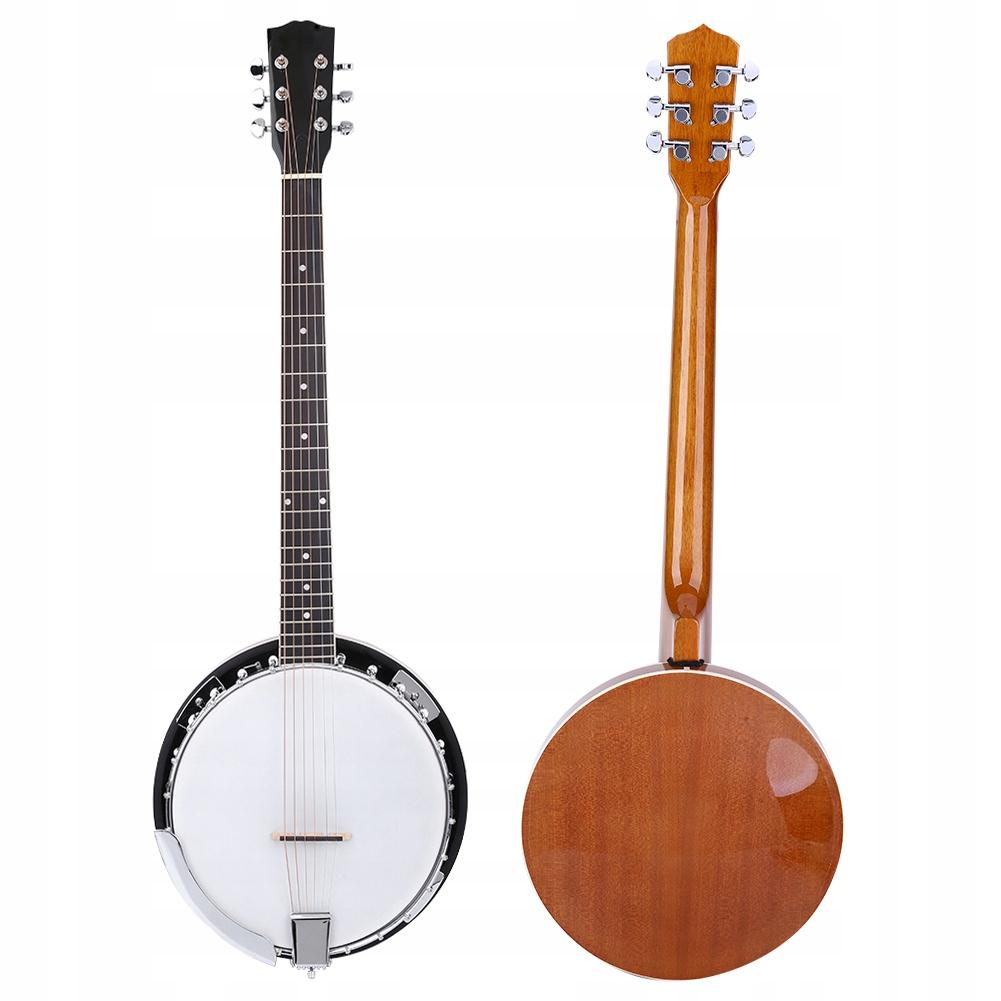 Banjo 6-strunowe Zestaw banjo 105cm*15cm
