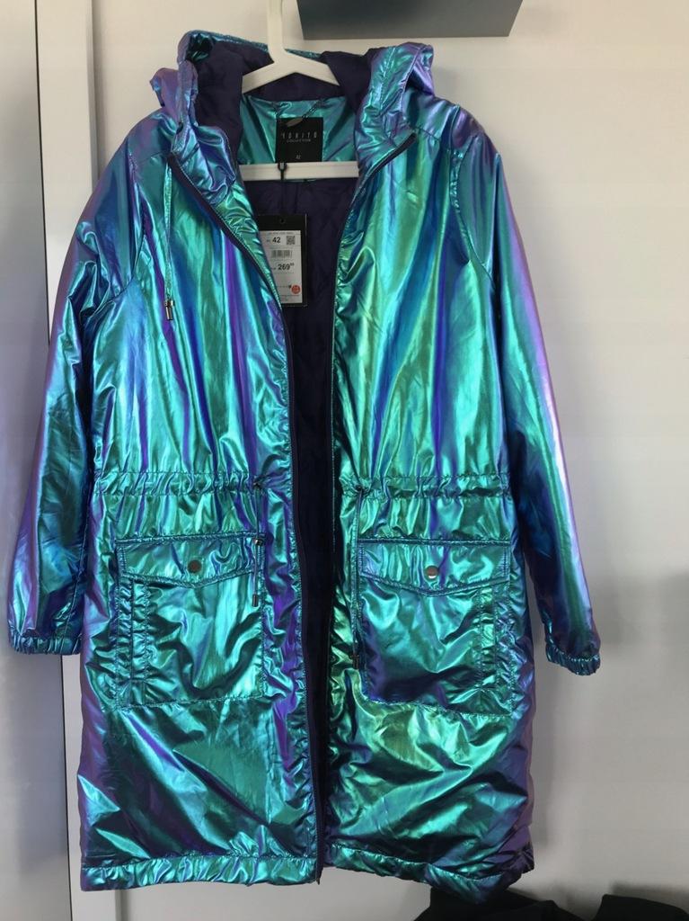 Mohito Holograficzna kurtka typu puffa Srebrny Holo… na