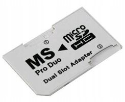 PSP22 Adapter DUAL Micro SD / MS PRO DUO