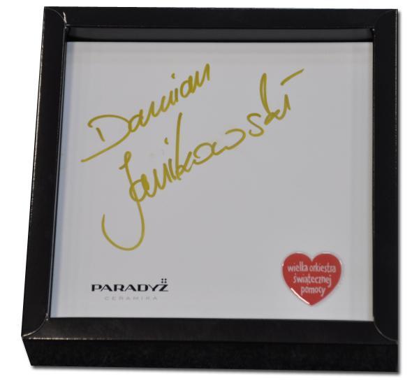 Damian Janikowski płytka ceramiczna WOŚP autograf