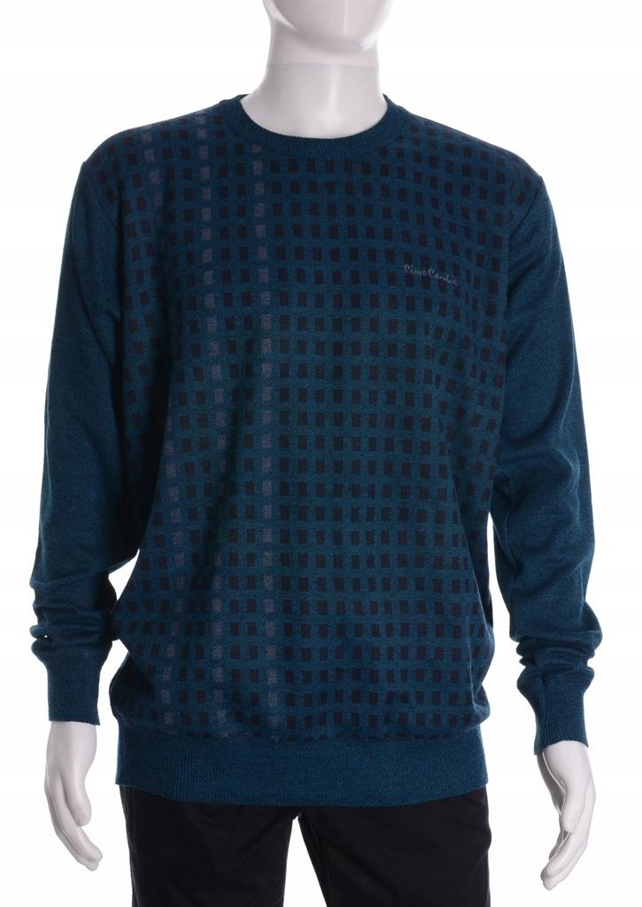 PIERRE CARDIN morski sweter męski we wzorek XL