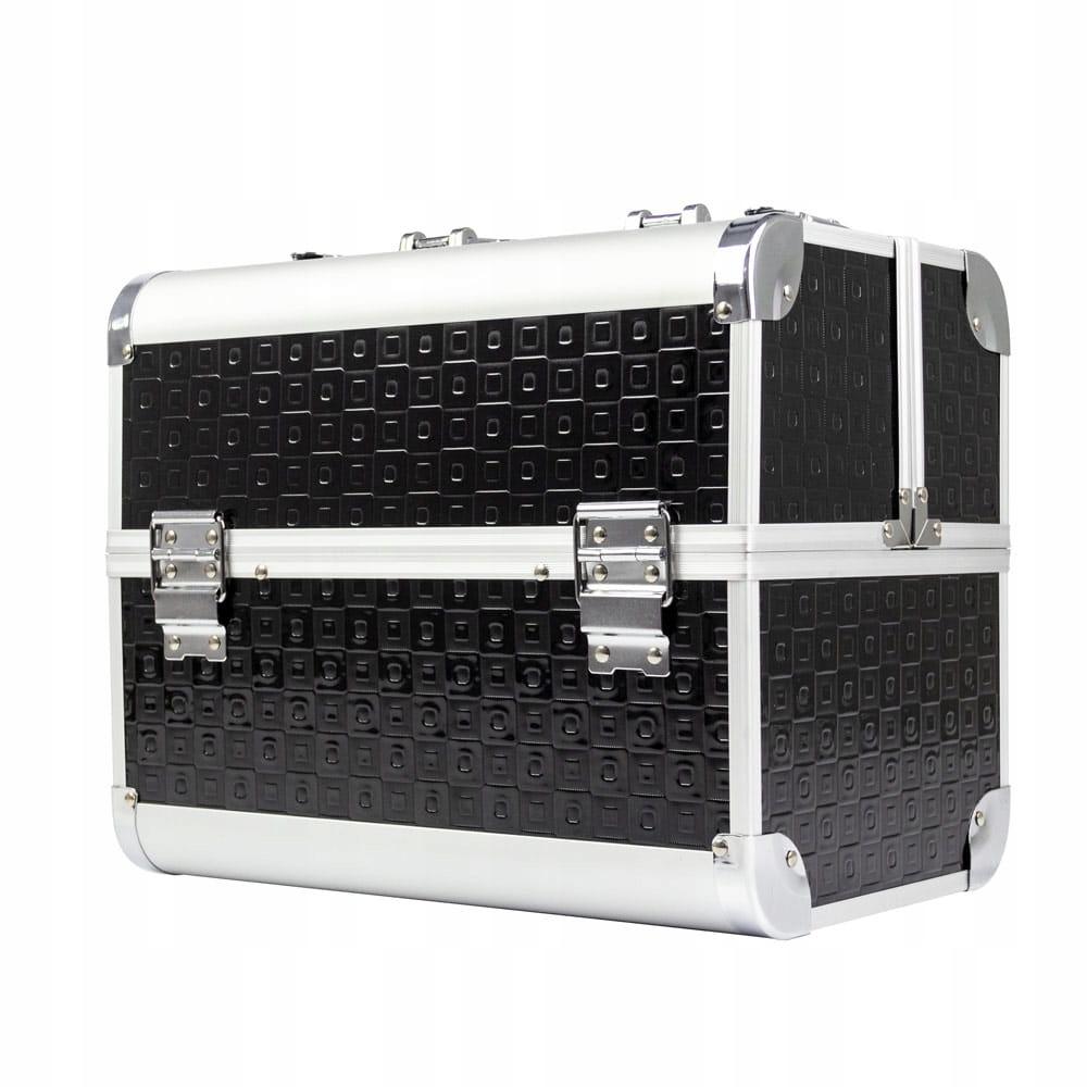 Kuferek kosmetyczny jednoczęściowy L E40 Mat Black