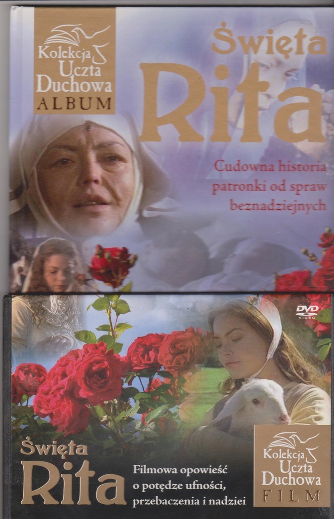 ŚW. RITA CUDOWNA HISTORIA PATRONKI.. KSIĄŻKA +DVD