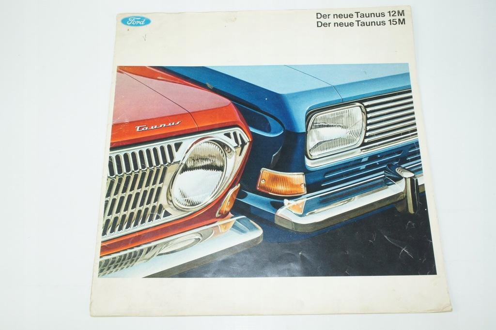 Prospekt samochodowy – Ford TAUNUS 12M lata 70te