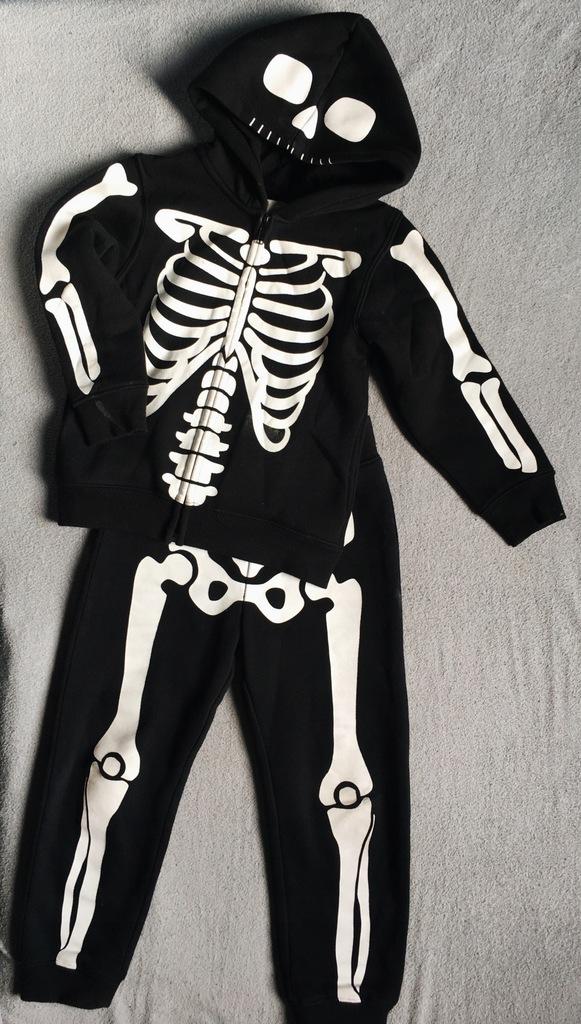 czarny komplet bluza dresy H&M 104 chłopiec