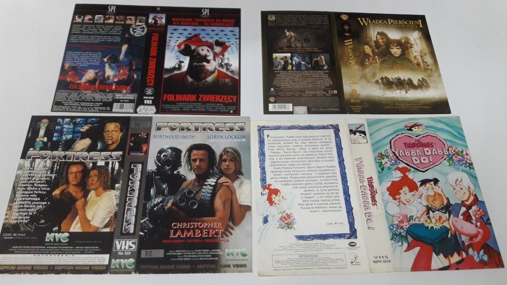 A-0846 pakiet 8 okładek kaset vhs