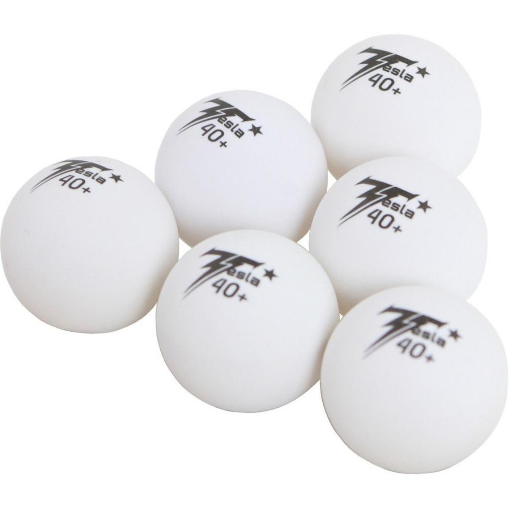 Piłeczki do tenisa stołowego Tesla białe 6szt