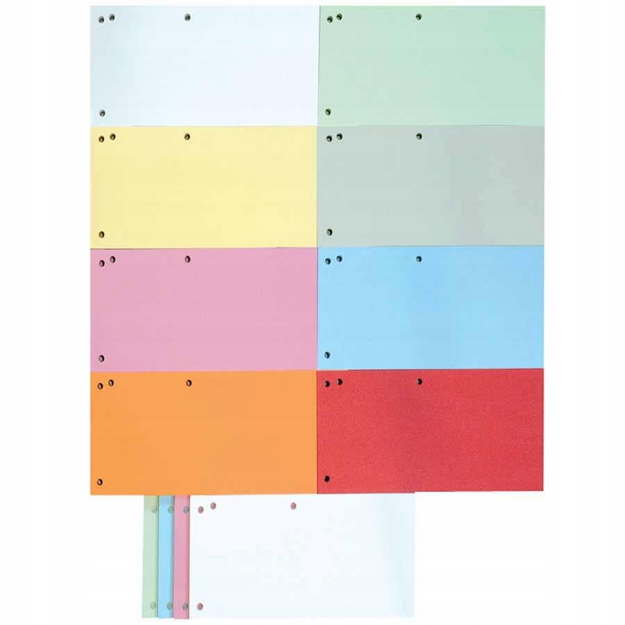 Przekładki DONAU kartonowe 1/3 A4 mix kolory