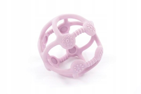 Bo Jungle Silikonowa piłeczka gryzak pastel pink