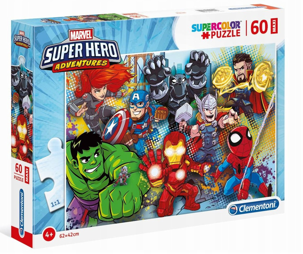 Puzzle 60 Super Kolor Superhero maxi Clementoni