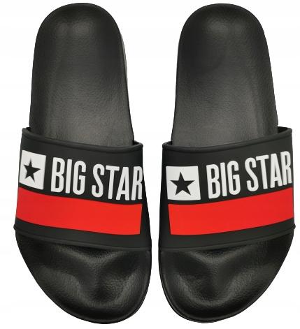 Klapki męskie BIG STAR GG174936 czarne 42