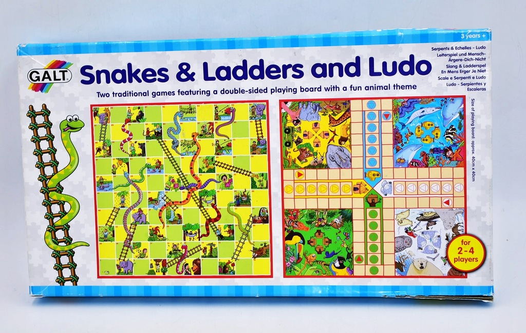 4623-25 ...GALT SNAKES&LADDERS LUDO... k#o GRY