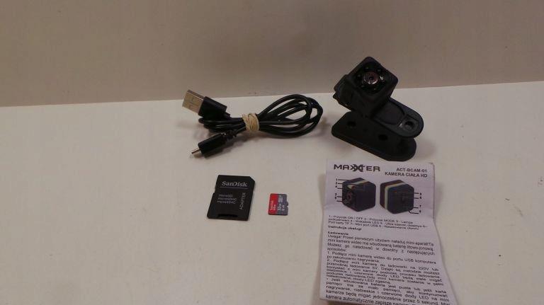 KAMERA MINI MAXXTER ACT-BCAM-01 +KARTA 32GB