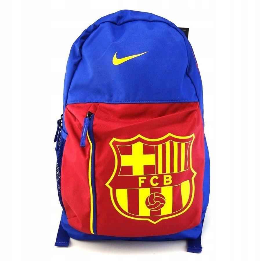 Plecak szkolny chłopięcy Nike FCB niebieski