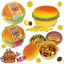 monety czekoladowe hamburger lunch box
