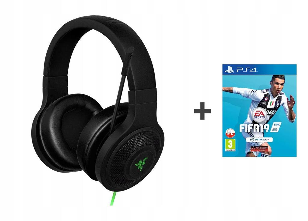 OUTLET Słuchawki Razer Kraken Essential+FIFA19 PS4