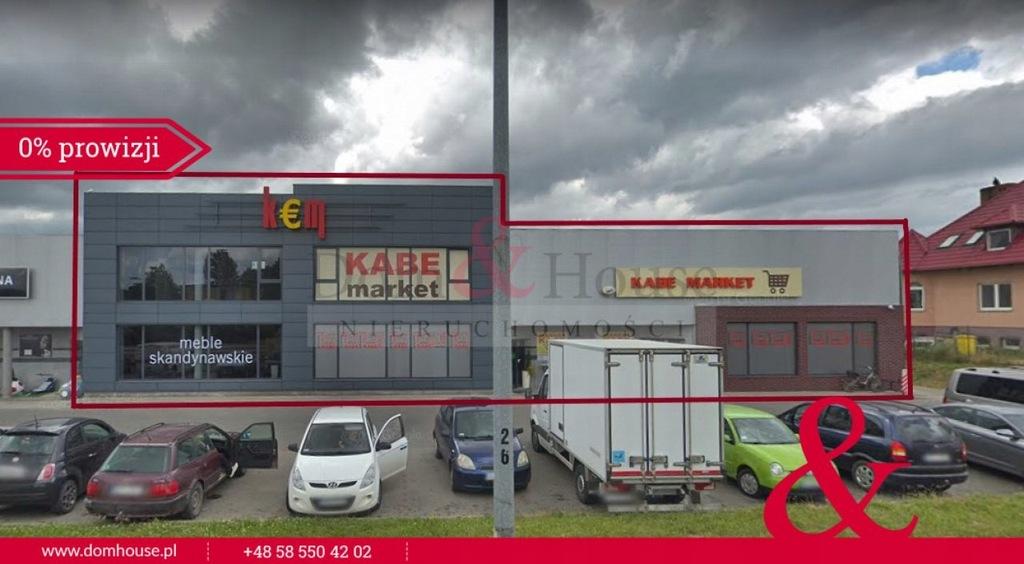 Komercyjne, Dzierżążno, Kartuzy (gm.), 555 m²