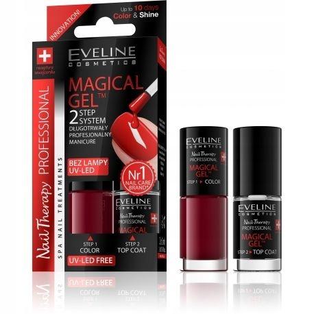 Eveline zestaw lakier do paznokci Red 5ml + Top Co
